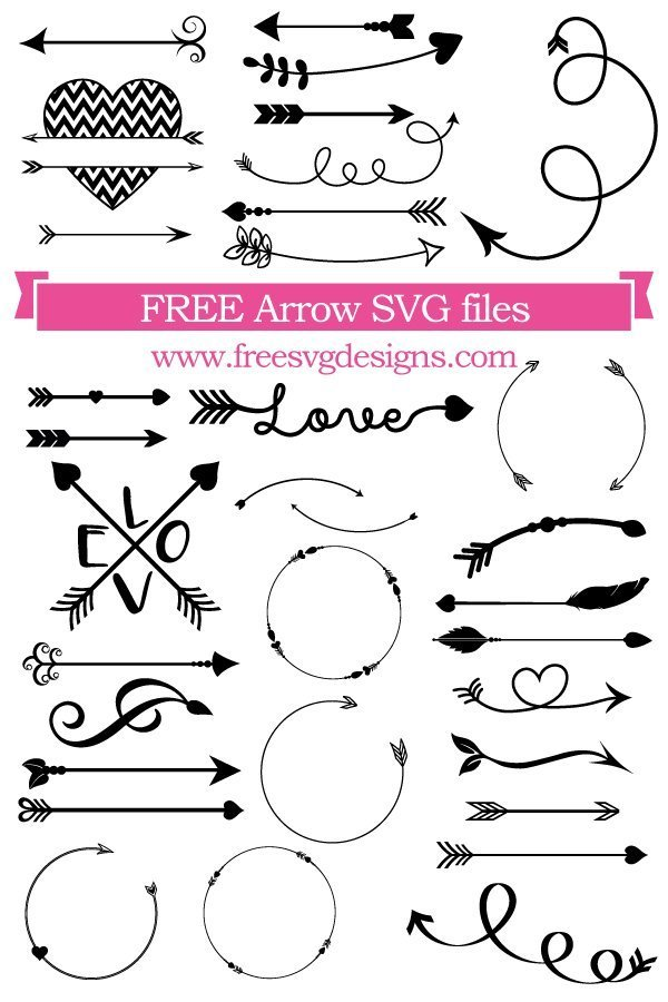 free arrow svg files #1210, Download drawings