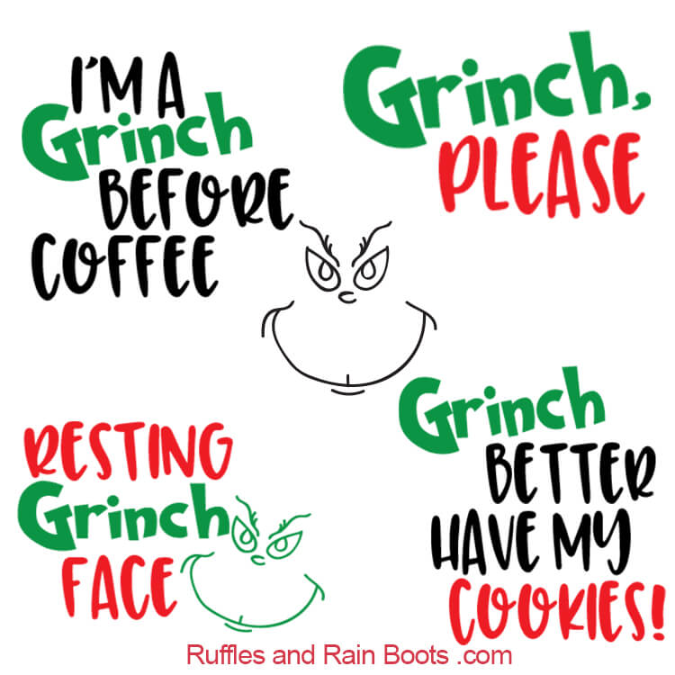 free grinch svg file #1250, Download drawings