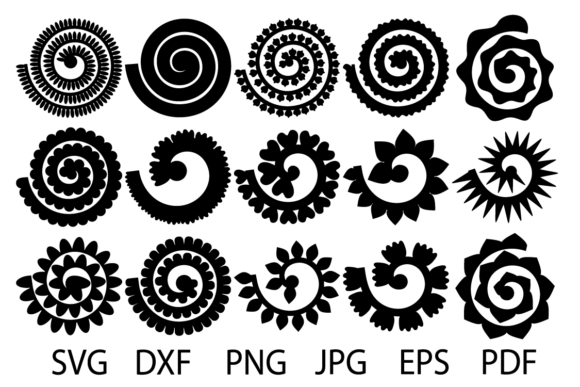 free rolled flower svg #791, Download drawings