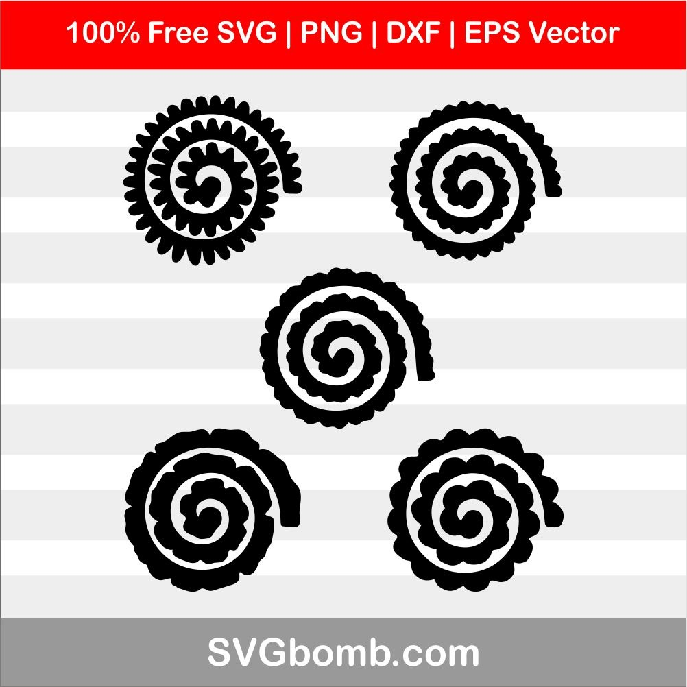 free rolled flower svg #790, Download drawings