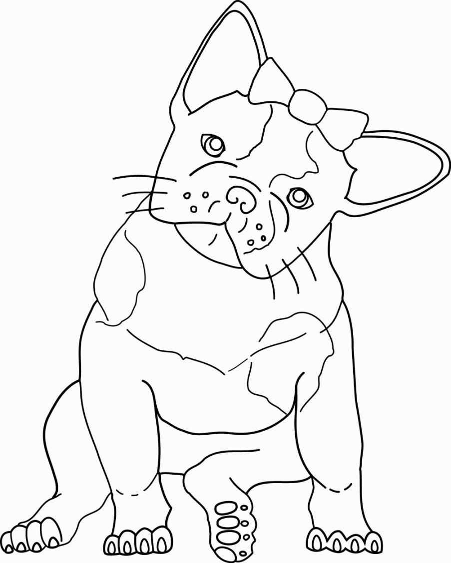 French Bulldog coloring #8, Download drawings
