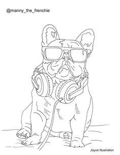 French Bulldog coloring #7, Download drawings