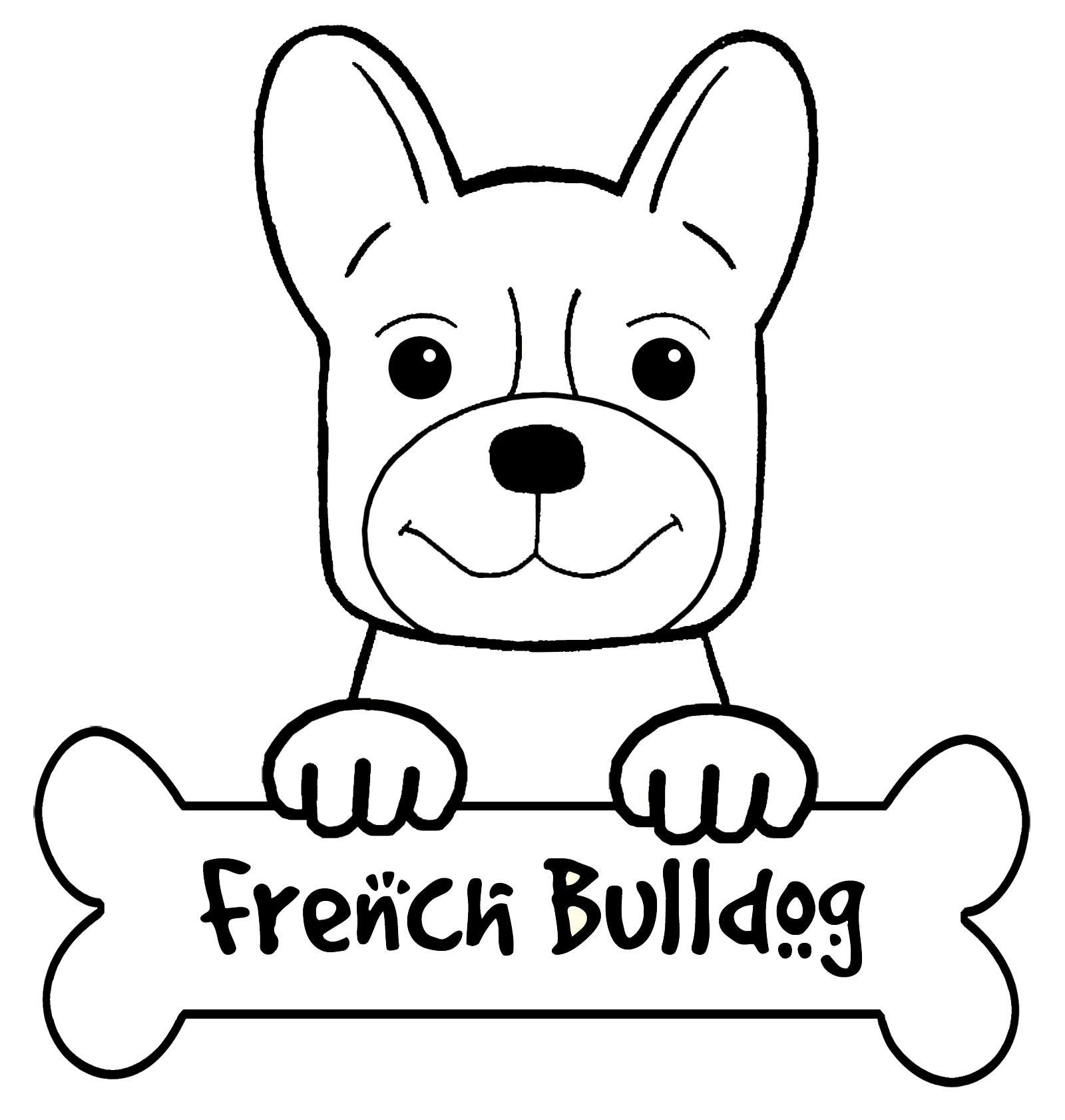 French Bulldog coloring #3, Download drawings