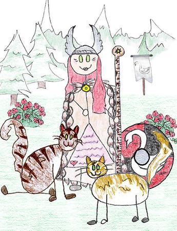 Freyja clipart #16, Download drawings
