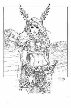 Freyja coloring #6, Download drawings