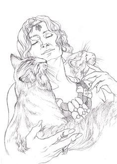Freyja coloring #4, Download drawings