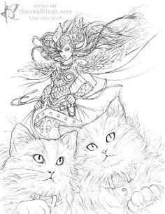 Freyja coloring #17, Download drawings