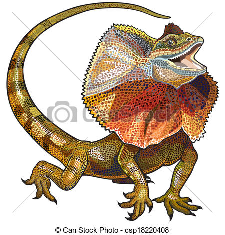Frilled-neck Lizard clipart #18, Download drawings
