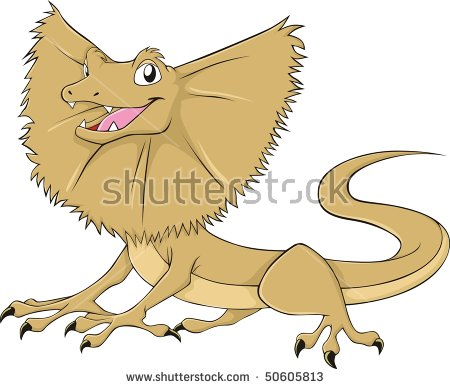 Frilled-neck Lizard clipart #12, Download drawings