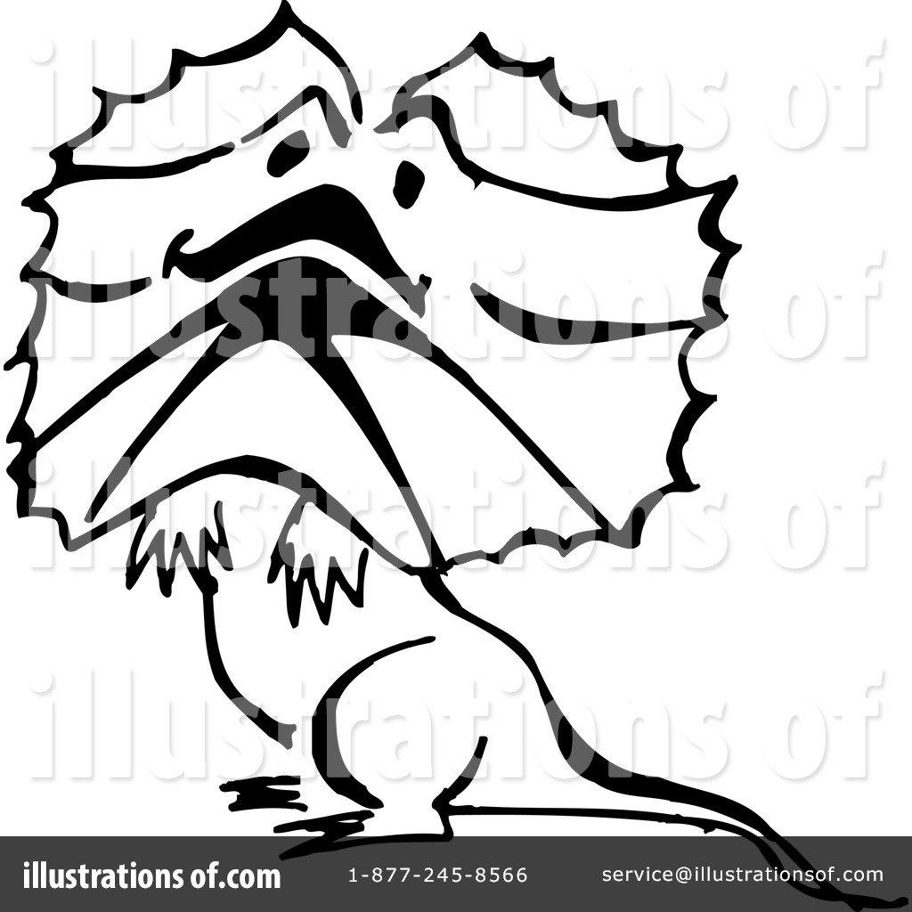 Frilled-neck Lizard clipart #1, Download drawings