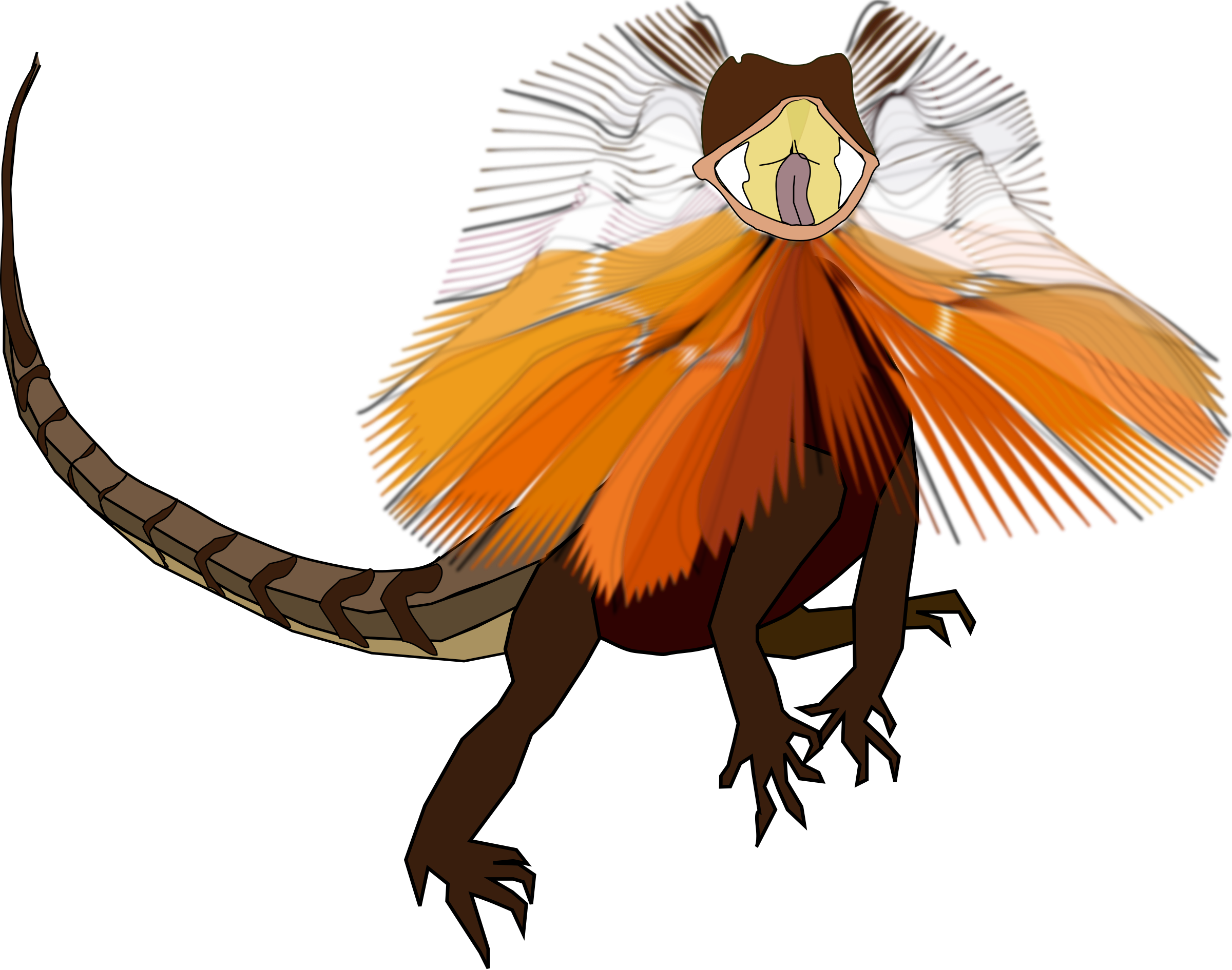 Frilled-neck Lizard clipart #6, Download drawings