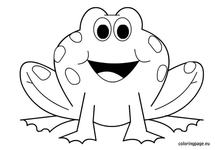Froggy Coloring Pages - Eskayalitim