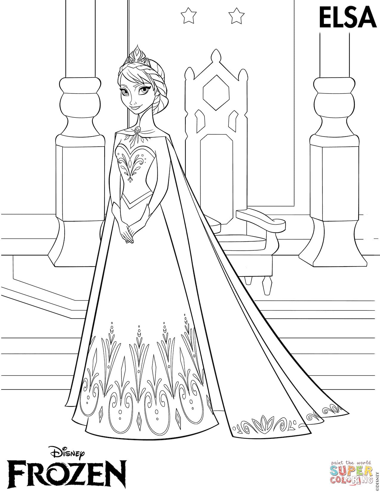 Elsa (Frozen) coloring #10, Download drawings