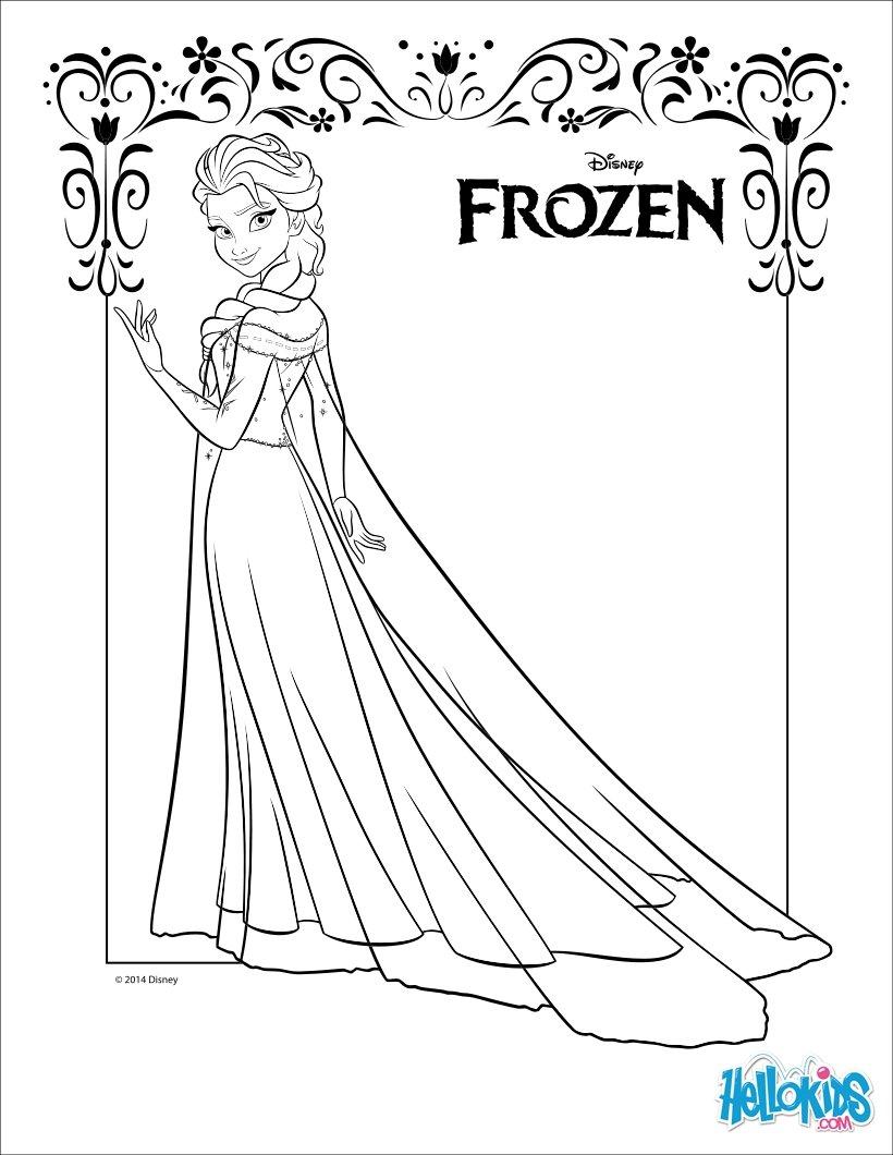 Elsa (Frozen) coloring #20, Download drawings
