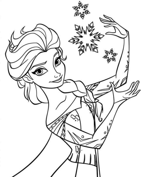 Elsa (Frozen) coloring #18, Download drawings