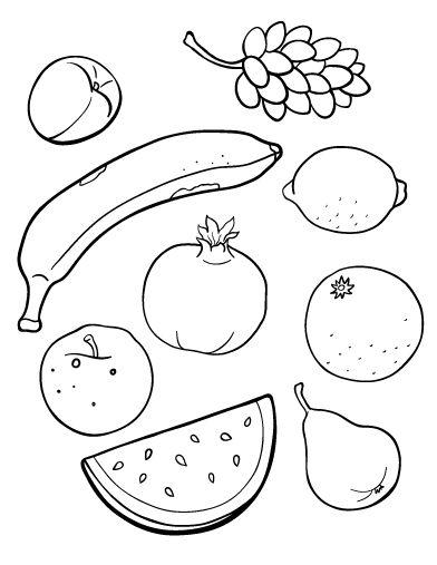 Fruit coloring #14, Download drawings