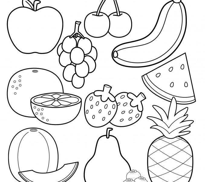 Fruit coloring #10, Download drawings