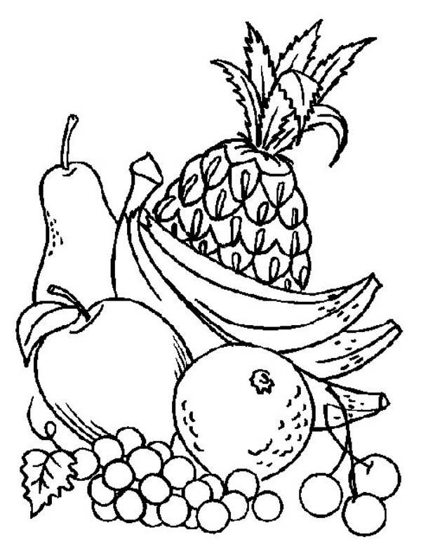 Fruit coloring #9, Download drawings