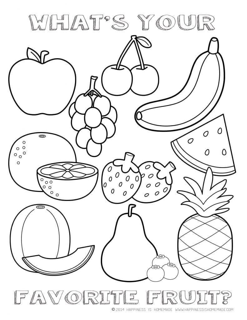 Fruit coloring #17, Download drawings