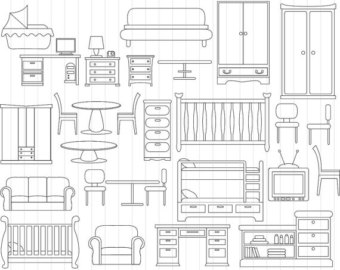 Furniture clipart #3, Download drawings