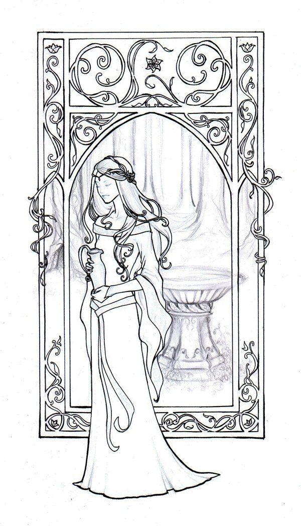 Galadriel coloring #20, Download drawings