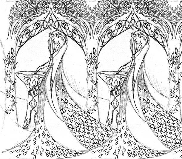Galadriel coloring #4, Download drawings