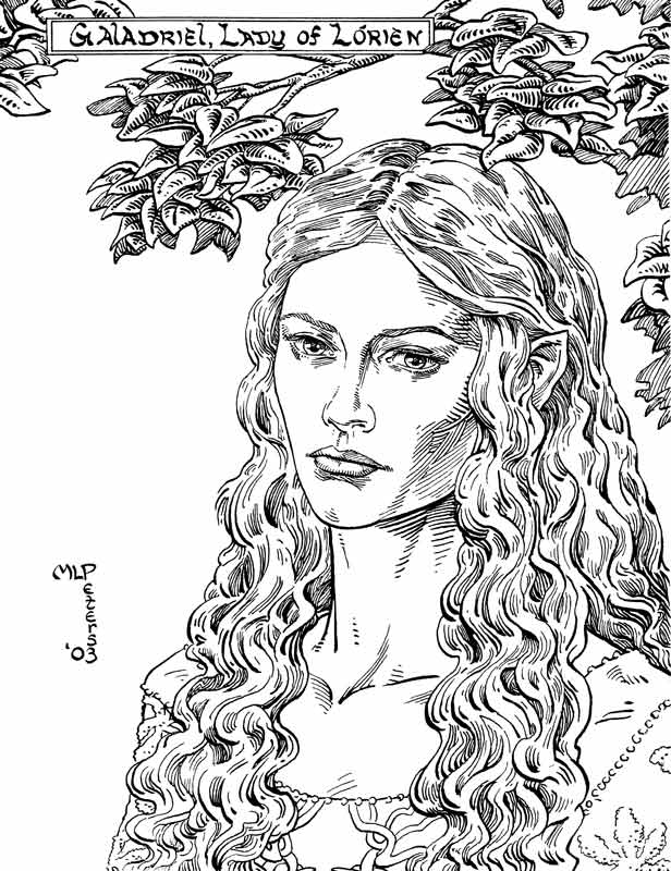 Galadriel coloring #6, Download drawings