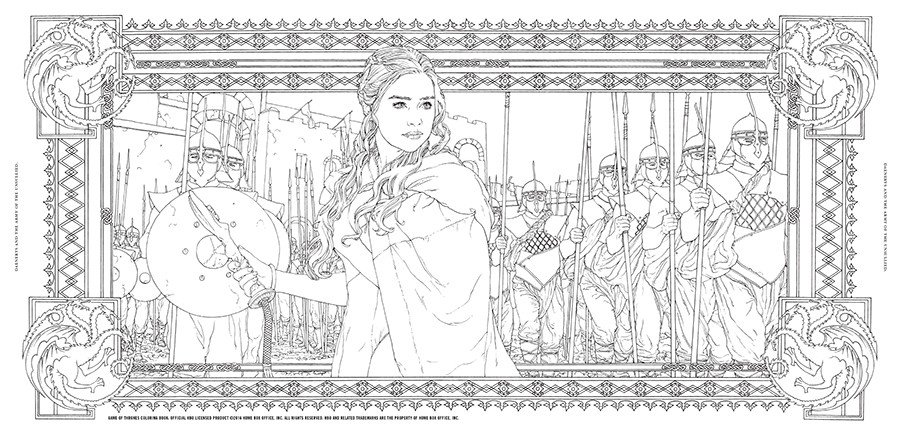 Game Of Thrones coloring #5, Download drawings