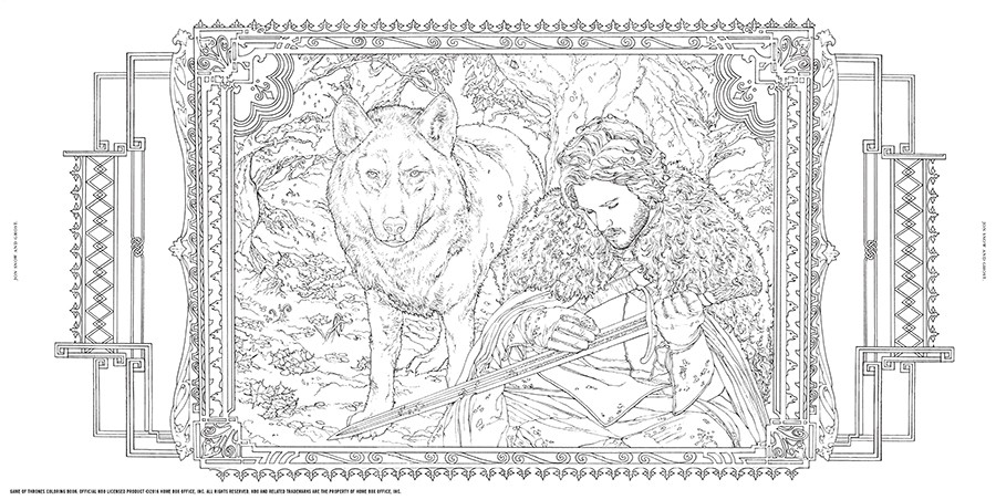 Game Of Thrones coloring #9, Download drawings
