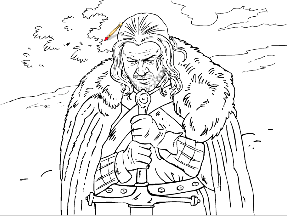 Game Of Thrones coloring #7, Download drawings