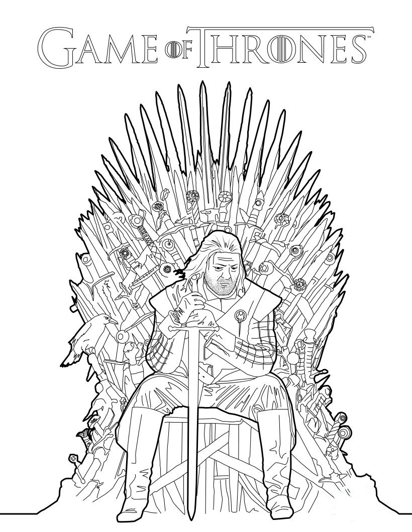Game Of Thrones coloring #2, Download drawings