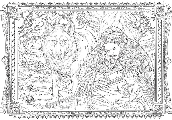 Game Of Thrones coloring #1, Download drawings
