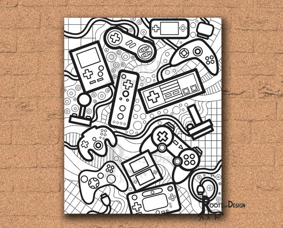 Gaming coloring #1, Download drawings