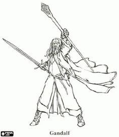 gandalf the gray coloring pages - photo#24