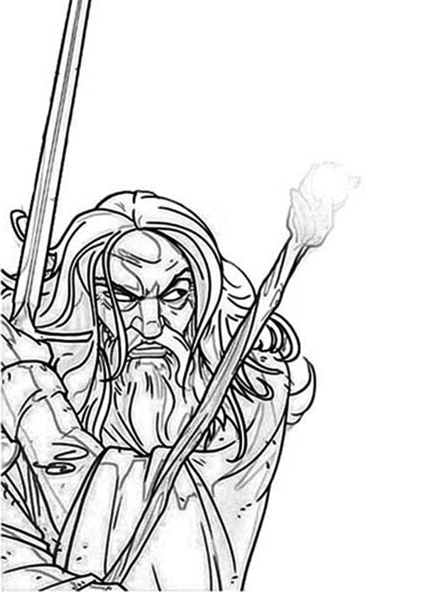 gandalf the gray coloring pages - photo#8
