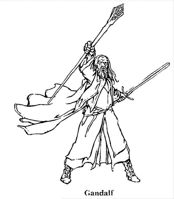 gandalf the gray coloring pages - photo#16