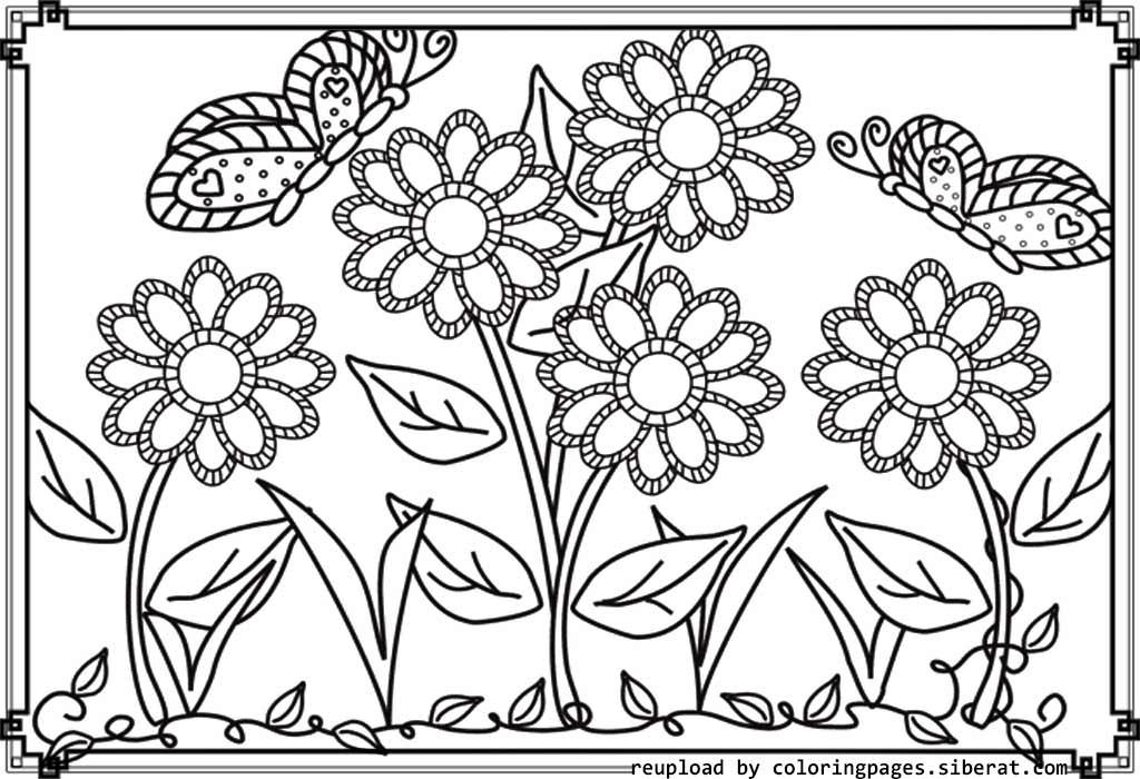 Garden coloring #6, Download drawings