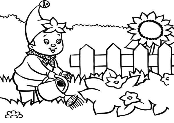 Garden coloring #14, Download drawings