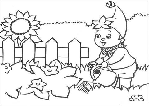 Garden coloring #9, Download drawings