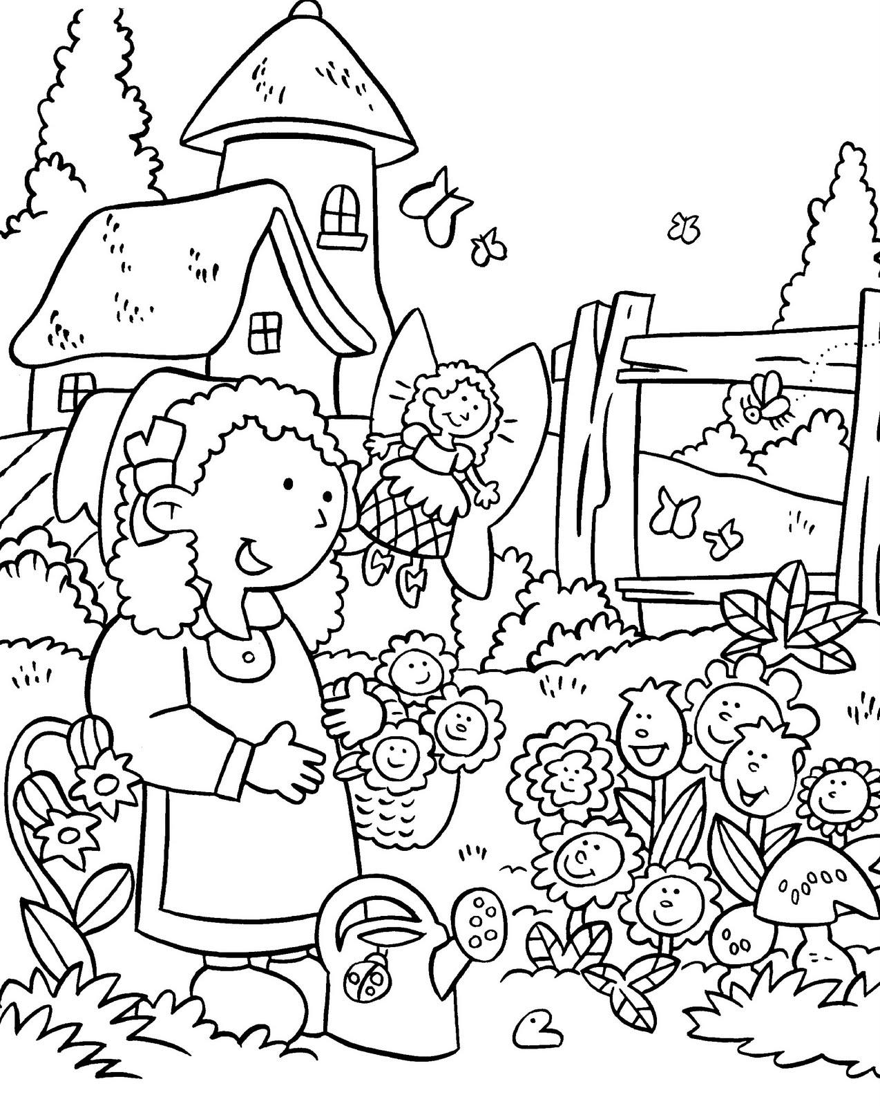 Garden coloring #4, Download drawings