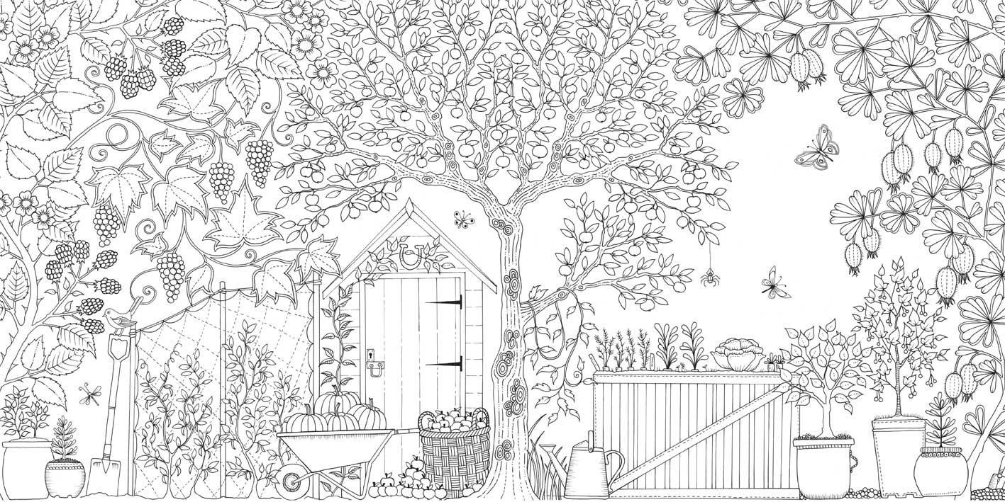 Garden coloring #19, Download drawings