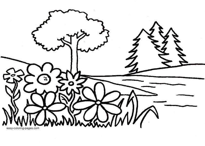 Garden coloring #12, Download drawings