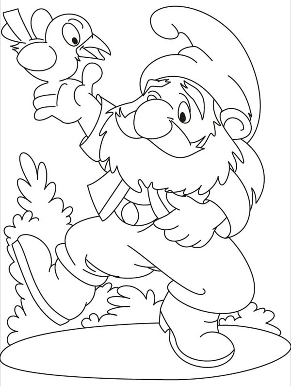 Garden Gnome coloring #18, Download drawings
