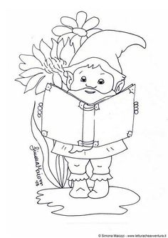Garden Gnome coloring #8, Download drawings