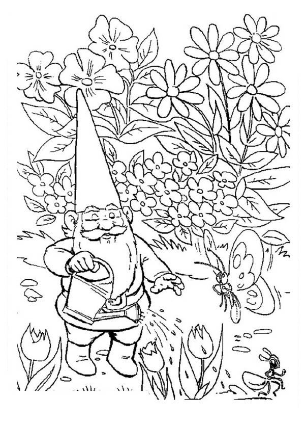 Garden Gnome coloring #7, Download drawings