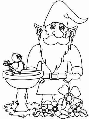 Garden Gnome coloring #12, Download drawings