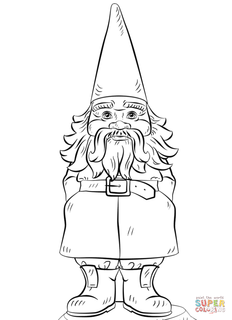 Garden Gnome coloring #16, Download drawings