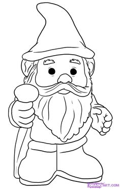 Garden Gnome coloring #5, Download drawings
