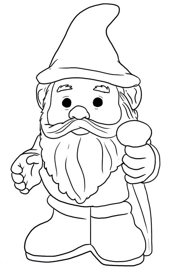 Garden Gnome coloring #10, Download drawings