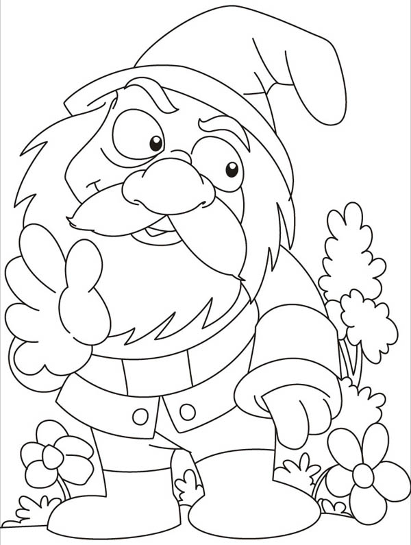 Garden Gnome coloring #19, Download drawings